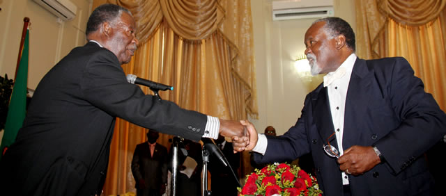 President Michael Sata Receiving the Commission of Inquiry report from the Chairman Dr Rodger Chongwe at State House