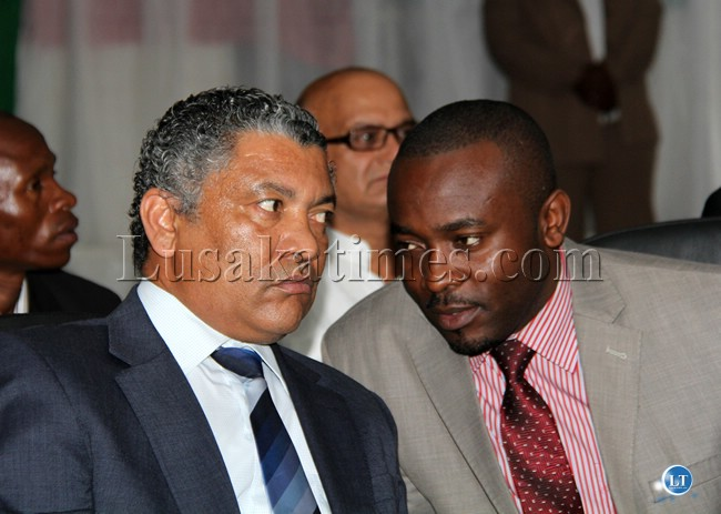 File:Given Lubinda and Press secretary Presidential affairs George Chellah
