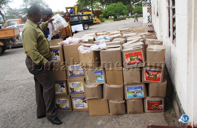 FILE: Some of the Tujilijili consignment that was surrendered at Kitwe Civic center by a named distributor in Kitwe