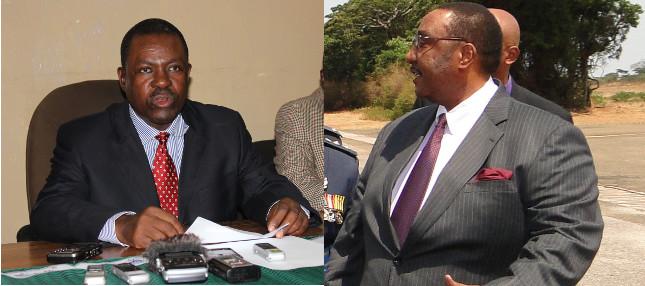Justice Minister Wynter Kabimba and Defence Minister Geoffrey Mwamba