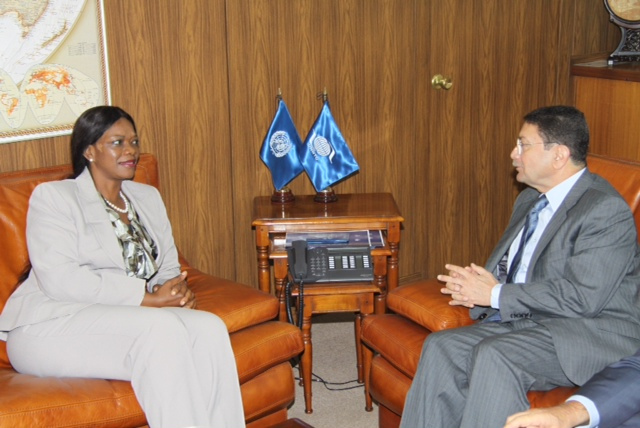 FILE: Silvia Masebo with Mr. Taleb Rifai, Secretary General of the UNWTO
