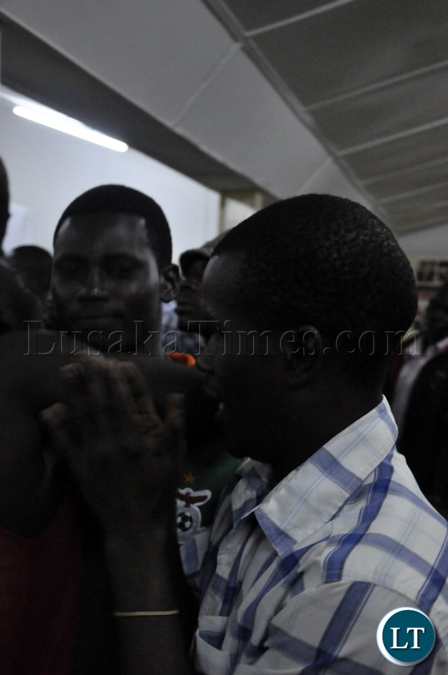 A man captured in a pensive mood when Zambia squandered scoring chances during the match against Bukina Faso
