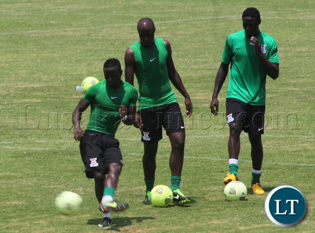 National team Players at the training Ground