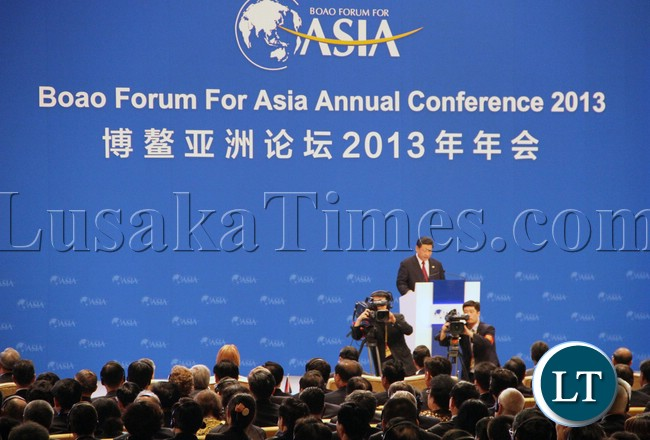 Chinese President CXi jinping address the BOAO Forum For Asia 1
