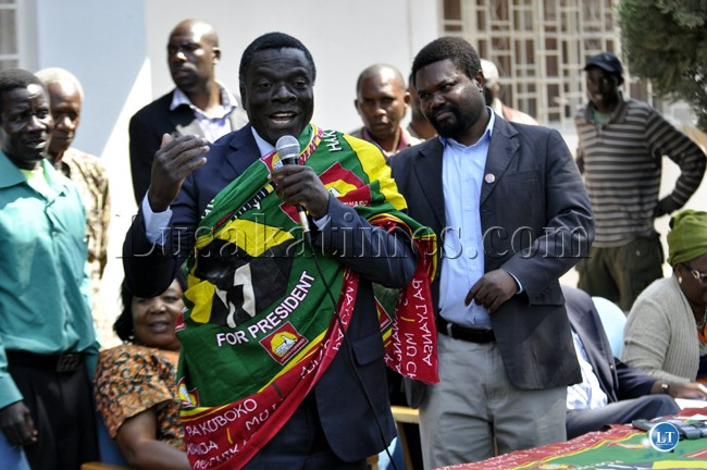 Former Movement for Multi-Party Democracy (MMD) Malambo Member of Parliament Maxwell Mwale