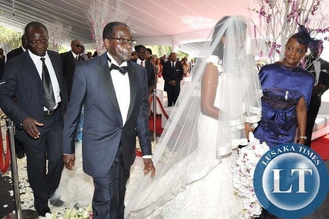 Bona mugabe wedding dress designer