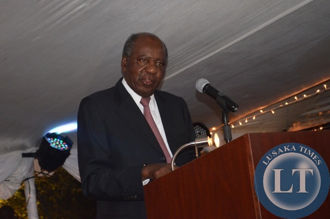 Finance Minister Alexander Chikwanda addressing accountants during the ZICA annual ball dinner at Zambezi Sun Hotel in Livingstone