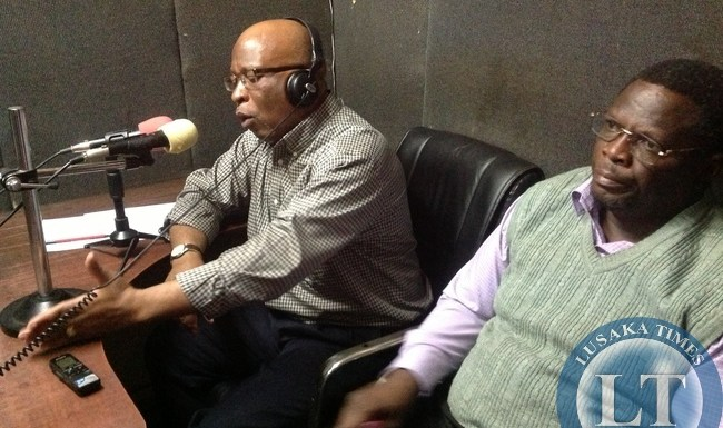 Dr Nevers Mumba speaking on Radio Mazabuka
