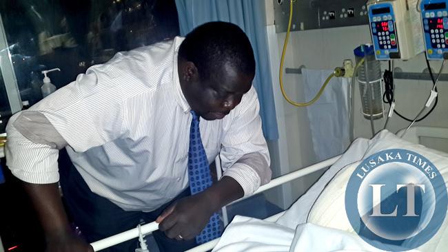 Minister Kambwili with Kazimu
