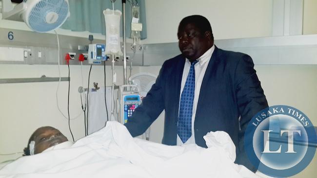Minister Kambwili with Tiberth