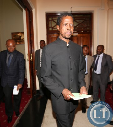 Mr  Edgar Lungu after a Special Session Of Cabinet meeting   at Statehouse. Vice President Dr Guy Scott is  now the Acting President of the Zambia. Picture  by Eddie Mwanaleza/Statehouse 29th October 2014.