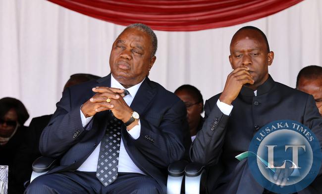 Former president Rupiah Banda with Mulenga Sata