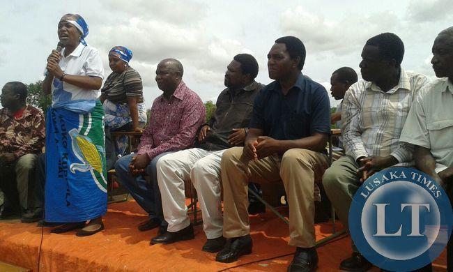 Kalima speaking at Kasenengwa