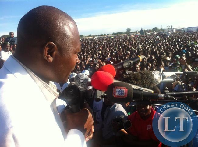 Father Bwalya at the rally