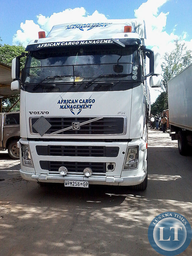 Truck carrying ECZ Material
