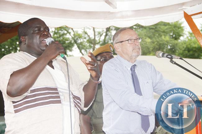 Chishimba Kambwili and Dr Scott