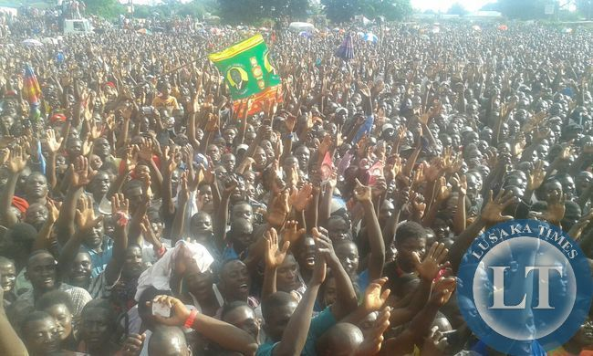Crowd at Mazabuka Rally