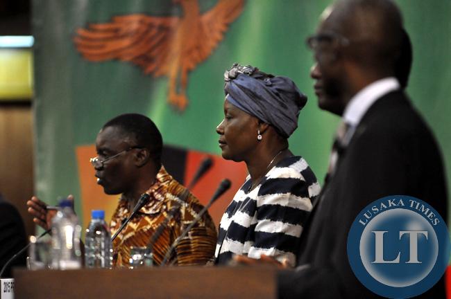 FDD's Edith Nakwakwi sanwiched between other male candidates