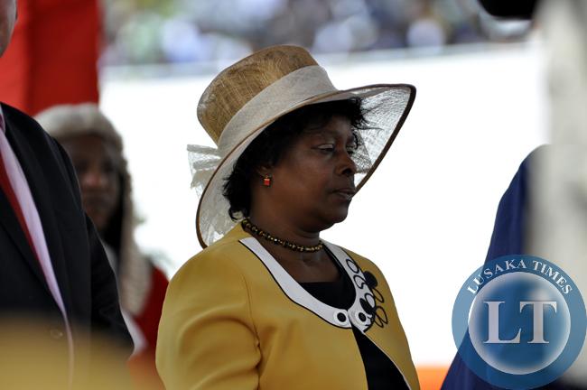 First Lady Esther Lungu during President Edgar Lungu's innauguration