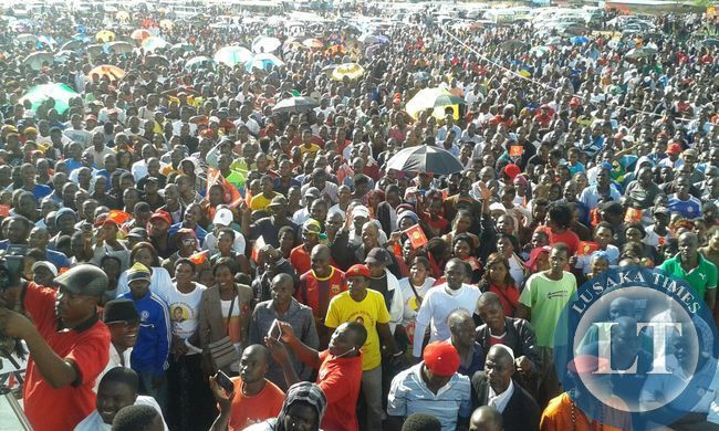 Mtendere rally in support of Presidential candidate Hakainde Hichilema