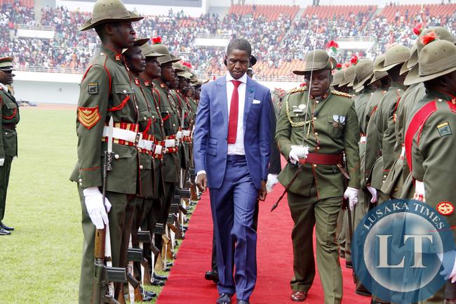 President Lungu Guard of Honour
