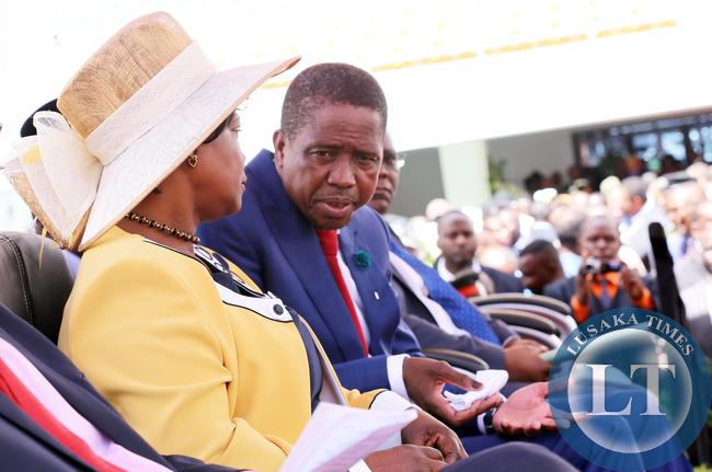 President Lungu with First  Lady Ester Lungu  8698