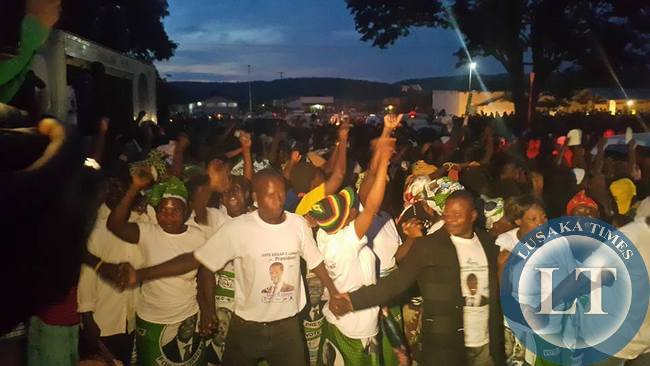 Isoka residents who stayed up late to be addressed by PF candidate Edgar Lungu