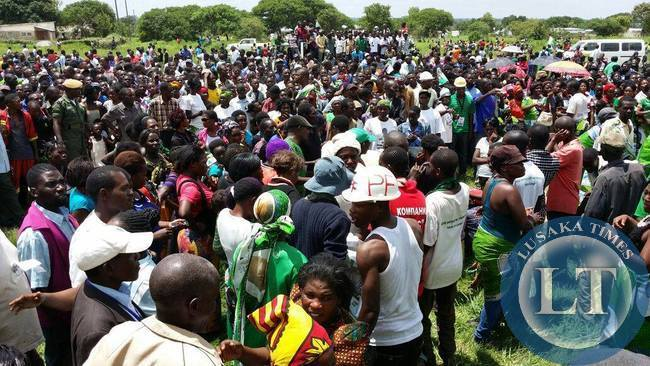 Part of the crowd at Kapiri Mposhi rally