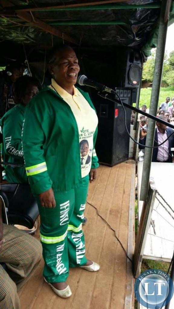 Nkandu Luo addressing the Chongwe Rally