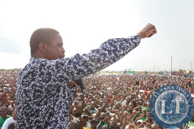 Edgar Lungu Addressing the crowd