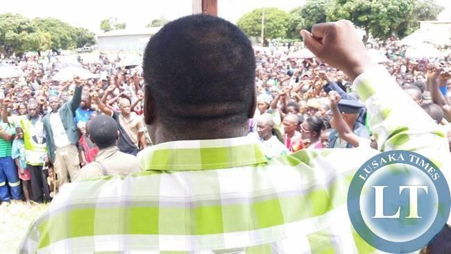 Ambassador Luhila prepares the audience for the Lukulu Rally