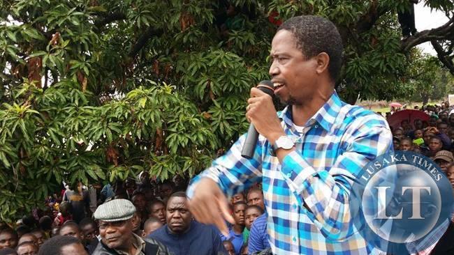 PF candidate Edgar Lungu in Luapula Province