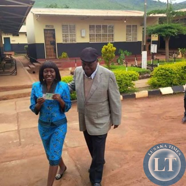 RB and wife Thandiwe after casting their votes