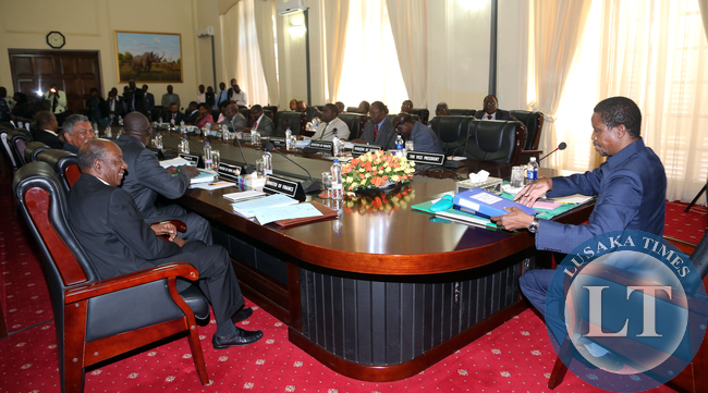 President Lungu Chairs Cabinet Meeting