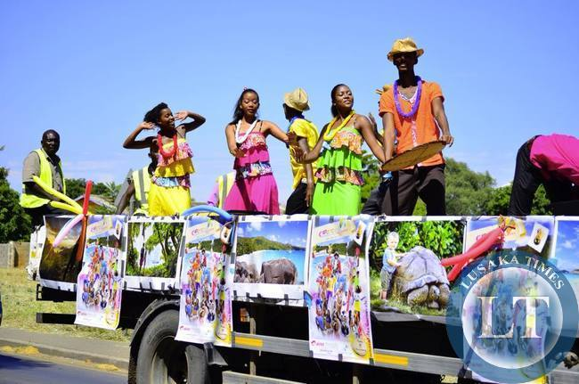 The National Dance troupe of Seychelles doing what they do best at the street carnival