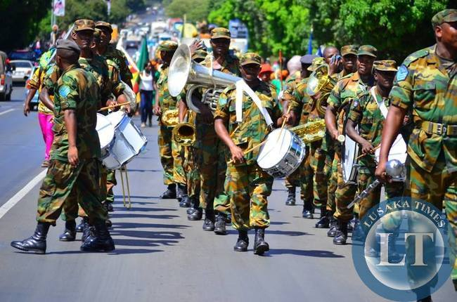 The Zambia  Army brass band was on hand to lead the carnivcal