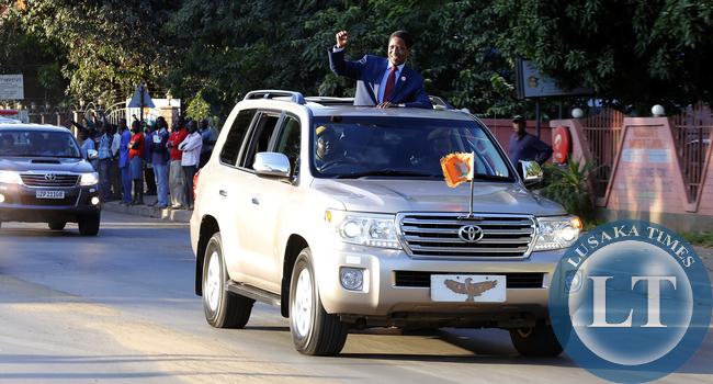 President Lungu in Livingstone