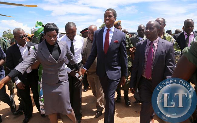 President Lungu in Mpika