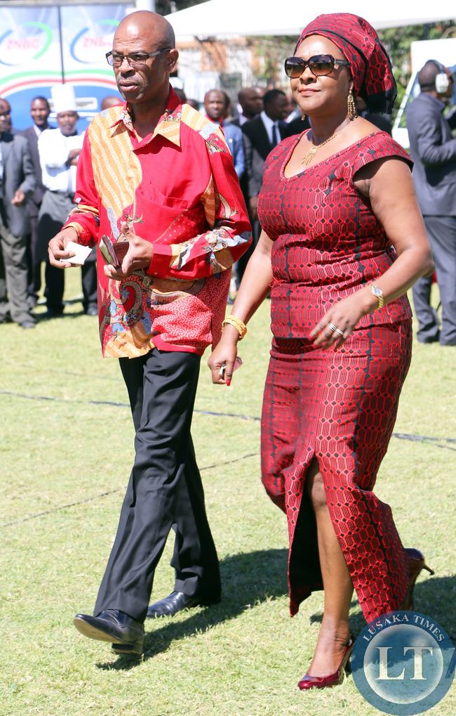 Mrs Margaret Mwanakatwe and Chrsitopher Mvunga