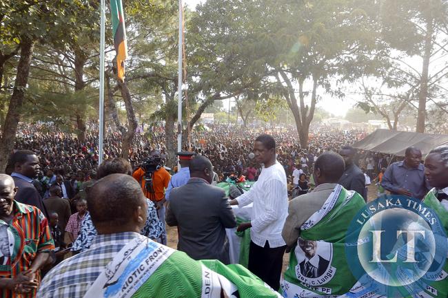 President Edgar Lungu at Mwinilunga rally in North Western Province