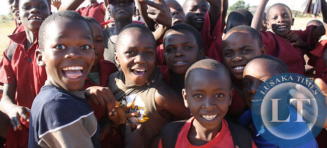 Some of the Zambian children who took part in UBC's  happiness study. Courtesy of  Alexa Geddes