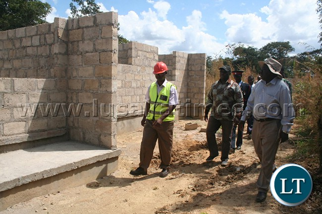 One of the 10 staff houses at Ikelenge Boarding Secondary School under construction