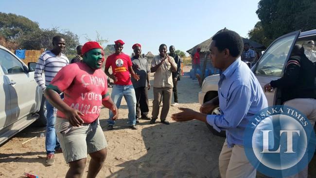 UPND president Hakainde Hichilema in Mulobezi