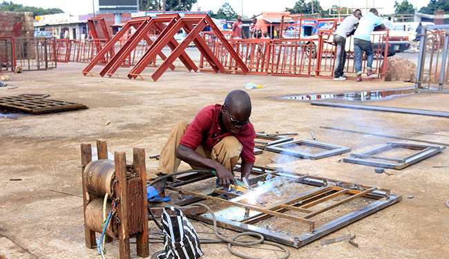 Small Business Using Electricity to make Steel Frames