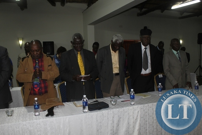 Southern Province Chiefs at the meeting with President Lungu