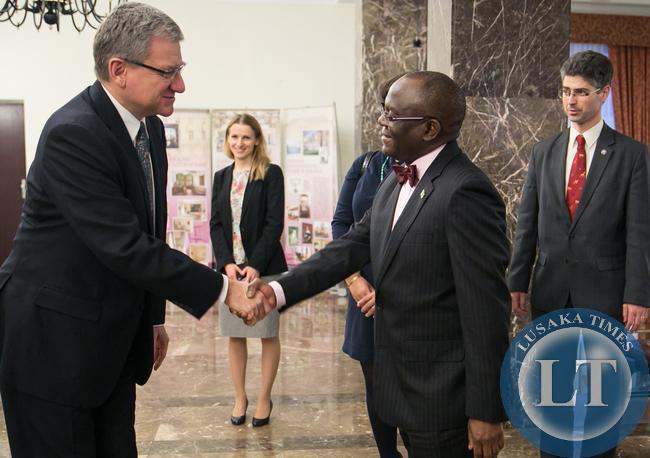 Bwalya Stanley Kasonde Chiti, the Ambassador of the Republic of Zambia