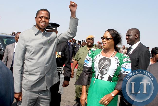 President Lungu with Mumbi Phiri