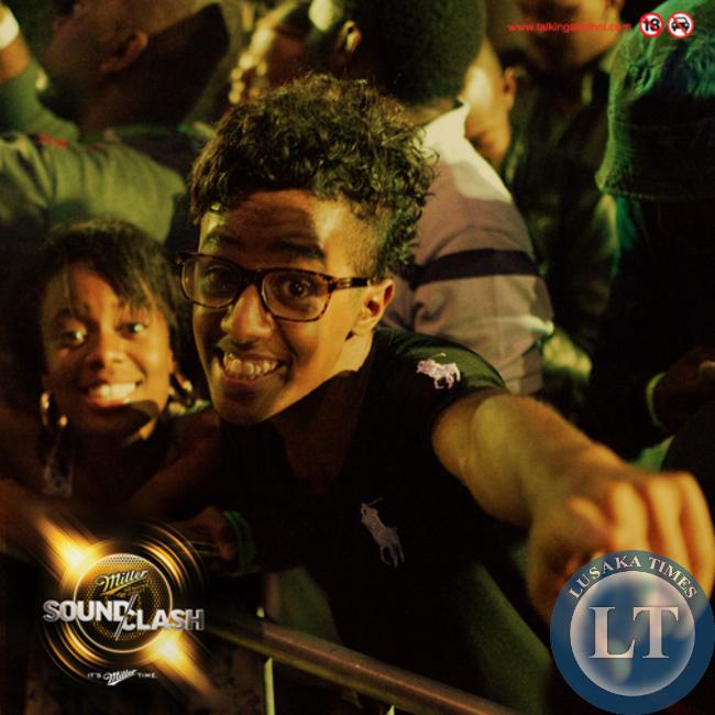 Revellers enjoy the Miller Soundclash at the Web in Lusaka