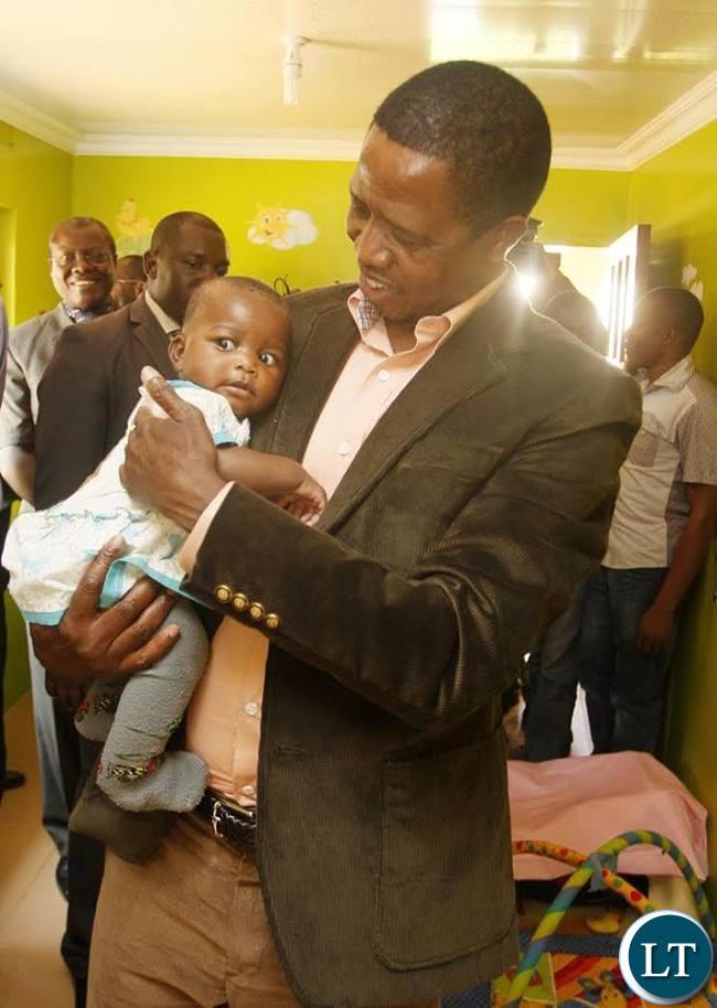 President Lungu at the Kasisi Orphanage
