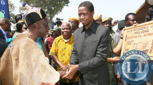 President Lungu confers with newly crowned Paramount Chief Chitimukulu